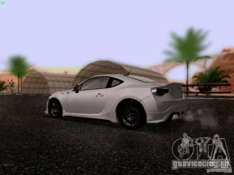 Toyota 86 TRDPerformanceLine 2012 для GTA San Andreas вид справа
