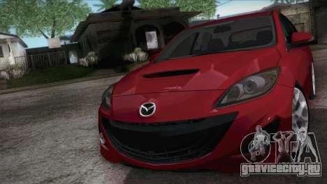 Mazda Mazdaspeed3 2010 для GTA San Andreas вид справа
