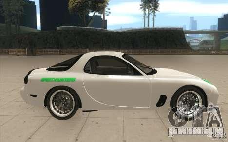 Mazda FD3S - Ebisu Style для GTA San Andreas вид изнутри