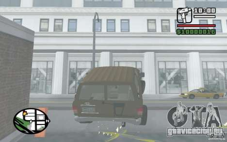 Toyota Land Cruiser 70 для GTA San Andreas вид изнутри