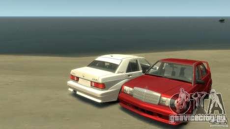 Mercedes-Benz 190E для GTA 4 вид сзади слева