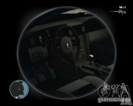 Ford Mustang GT 2005 v1.2 для GTA 4 вид сзади