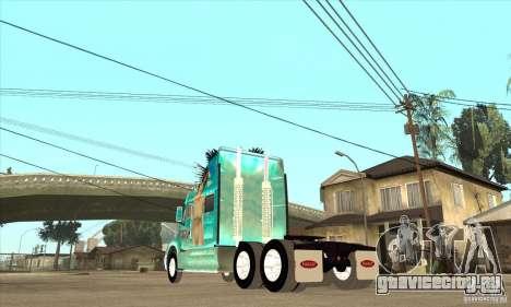 Peterbilt 387 скин 4 для GTA San Andreas вид справа