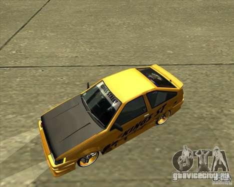 Toyota AE86 Levin для GTA San Andreas вид сверху
