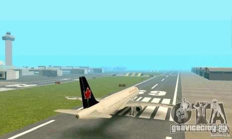 Airbus A321 Air Canada для GTA San Andreas вид сзади
