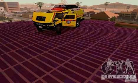 Hummer H2 Ambluance из Трансформеров для GTA San Andreas вид сзади