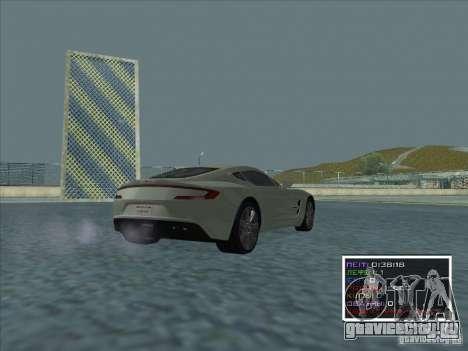 Aston Martin One 77 2011 для GTA San Andreas вид сзади слева