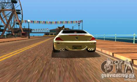 BMW M6 для GTA San Andreas вид справа