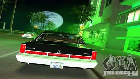 Lincoln Town Car 1997 для GTA Vice City вид справа