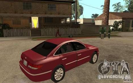 Hyundai Azera 2009 для GTA San Andreas вид справа
