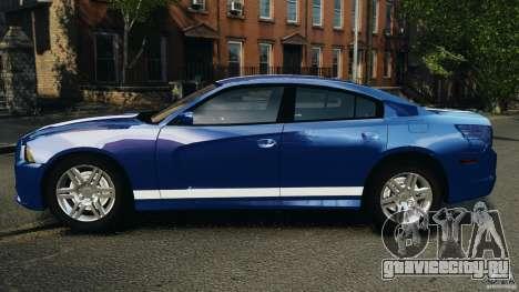 Dodge Charger Unmarked Police 2012 [ELS] для GTA 4 вид слева