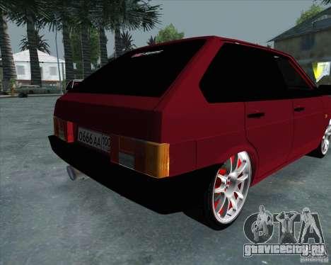 ВАЗ 2109 Drift для GTA San Andreas вид сзади