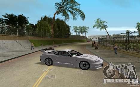 Toyota Supra Chargespeed для GTA Vice City вид сзади слева
