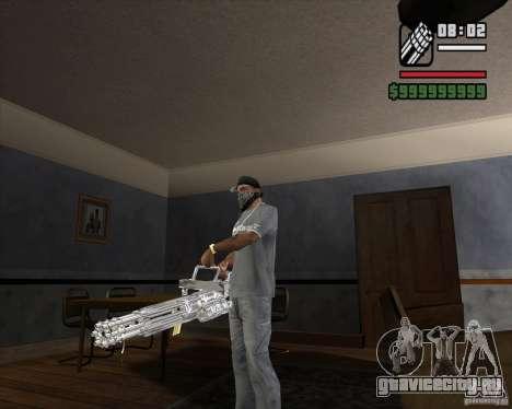 Хромовый миниган для GTA San Andreas второй скриншот