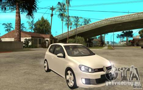 VW Golf 6 GTI для GTA San Andreas вид сзади