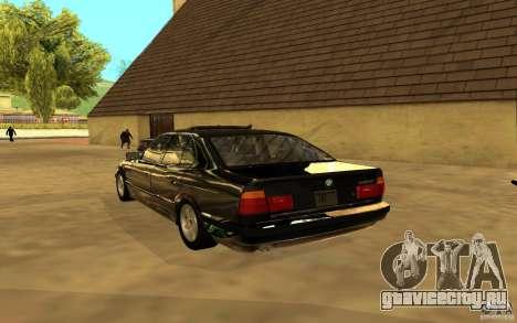 BMW 525 (E34) для GTA San Andreas вид сзади