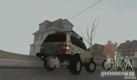 Toyota Land Cruiser 100 Off Road для GTA San Andreas вид сзади слева