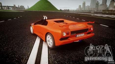 Lamborghini Diablo 6.0 VT для GTA 4 вид сзади слева