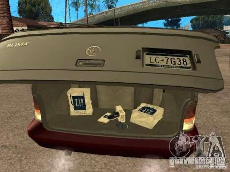 HD Blista для GTA San Andreas вид сзади