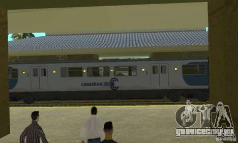 Cerberail Train для GTA San Andreas вид сзади слева