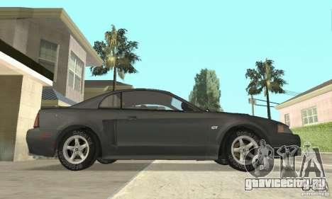Ford Mustang GT 1999 (3.8 L 190 hp V6) для GTA San Andreas вид сзади слева