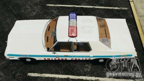 Dodge Monaco 1974 Police v1.0 [ELS] для GTA 4 вид справа
