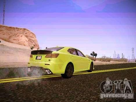 Lexus I SF для GTA San Andreas вид сзади слева