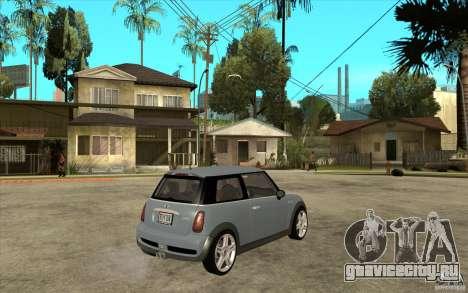Mini Cooper - Stock для GTA San Andreas вид справа