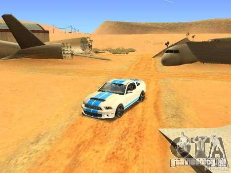 Ford Shelby GT500 для GTA San Andreas вид сбоку
