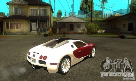 Bugatti Veyron Grand Sport для GTA San Andreas вид справа