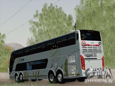 Busscar Panoramico DD 8x2 для GTA San Andreas вид справа