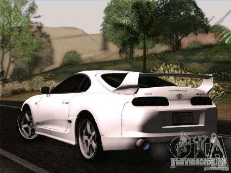 Toyota Supra TRD3000GT v2 для GTA San Andreas вид сзади