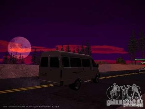 ГАЗель 32213 Бизнес v1.0 для GTA San Andreas вид сзади слева