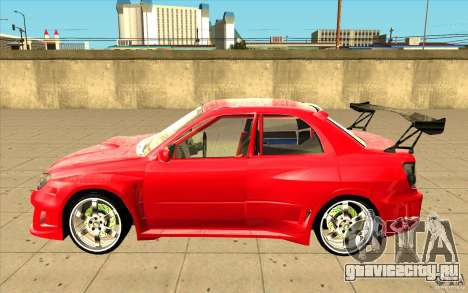 Subaru Impreza STI для GTA San Andreas вид слева