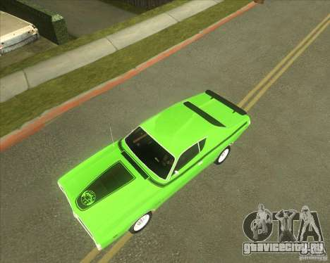 1971 Dodge Charger Super Bee для GTA San Andreas вид изнутри