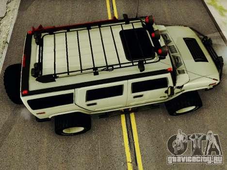 Hummer H2 Monster 4x4 для GTA San Andreas вид справа