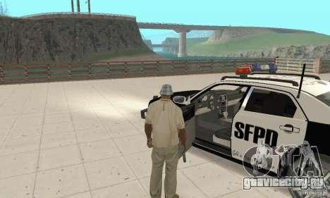 Chrysler 300C Police v2.0 для GTA San Andreas вид сзади