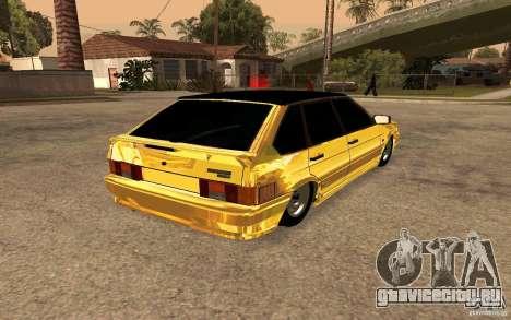 ВАЗ 2114 GOLD для GTA San Andreas вид сзади слева