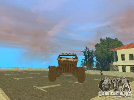 Jeep from Red Faction Guerrilla для GTA San Andreas вид сзади