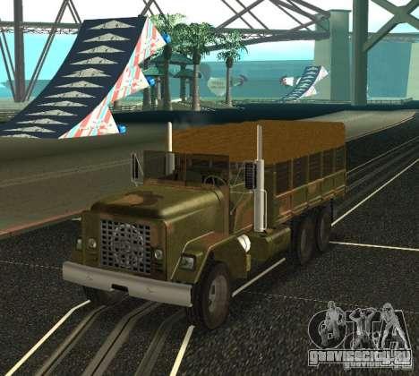 Sand Barracks HD для GTA San Andreas вид сзади слева