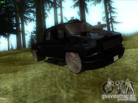 GMC C4500 Pickup DUB Style для GTA San Andreas вид слева