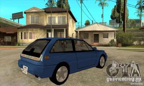 Volvo 480 Turbo для GTA San Andreas вид справа