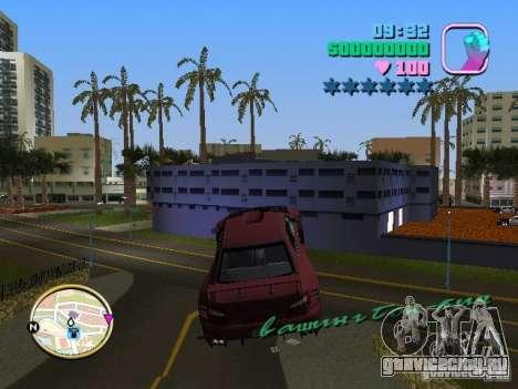 Subaru Impreza WRX STI для GTA Vice City вид сзади