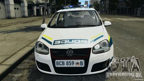 Volkswagen Golf 5 GTI South African Police [ELS] для GTA 4 вид сверху