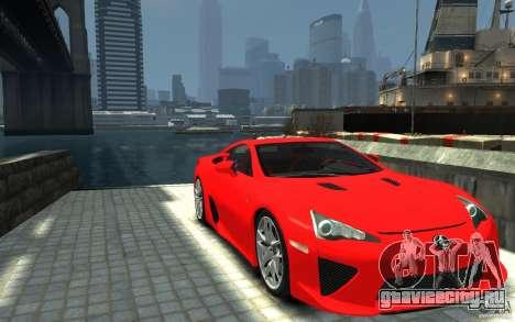 Lexus LFA v1.0 для GTA 4 вид сзади