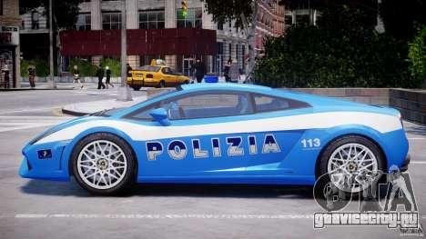 Lamborghini Gallardo LP560-4 Polizia для GTA 4 вид сзади слева