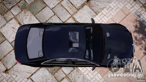 Mercedes-Benz S600 w221 для GTA 4 вид справа