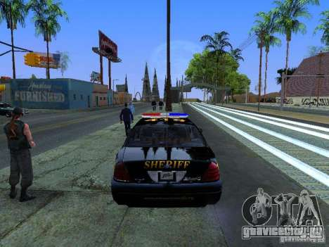 Ford Crown Victoria Erie County Sheriffs Office для GTA San Andreas вид справа