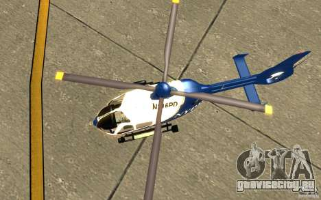 NYPD Eurocopter By SgtMartin_Riggs для GTA San Andreas вид сзади