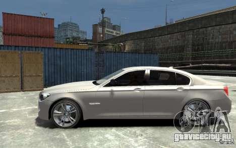 BMW 750i F01 v3 для GTA 4 вид слева